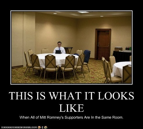 THIS IS WHAT IT LOOKS LIKE When All of Mitt Romney's Supporters Are In the Same Room.