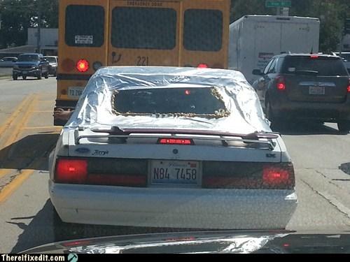 aerodynamic plastic rear window - 6546934272