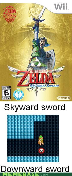 downward sword link Skyward Sword zelda - 6547024640