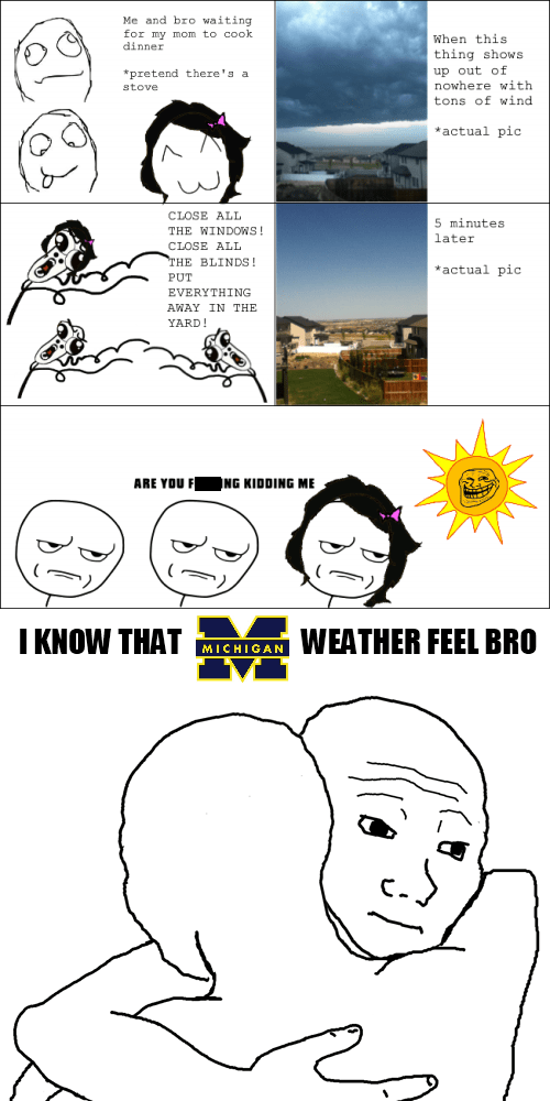 Michigan weather is a bitch