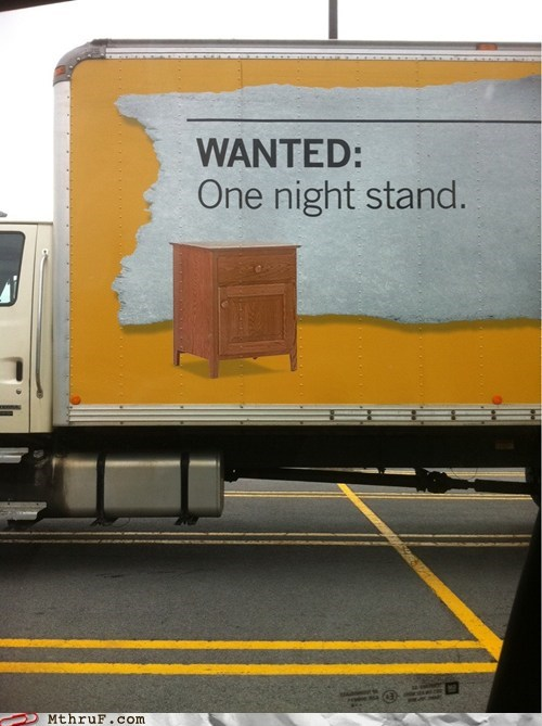 clever advertising,one night stand,wanted,wanted-one-night-stand