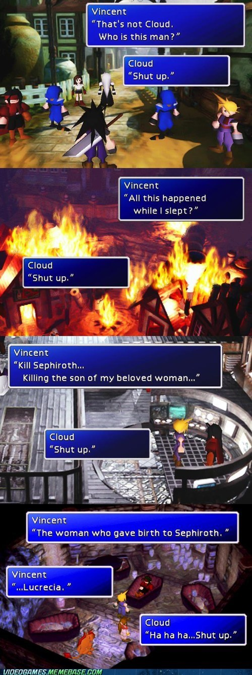 cloud final fantasy final fantasy VII playstation RPG shut up vincent - 6547477248