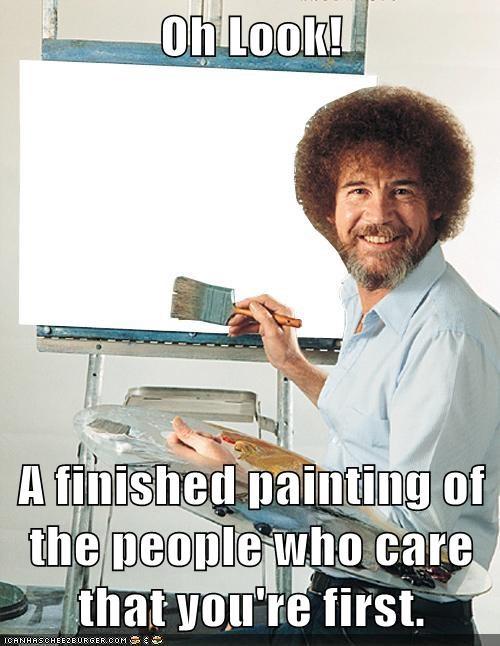blue shell bob ross first meta painting - 6547498240
