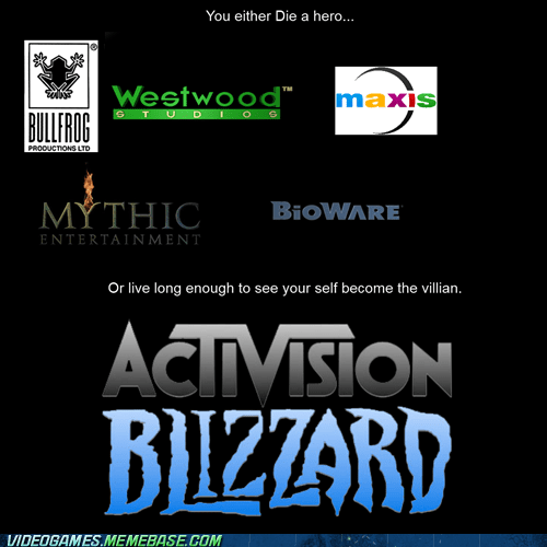 activision blizzard heroes Sad video game companies