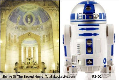 religion,funny,r2-d2,sacred heart,shrine,star wars,TLL