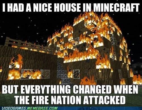 Avatar fire nation meme minecraft - 6547583232