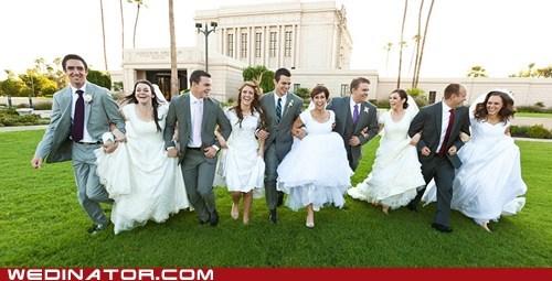 group wedding huge mormon Party siblings