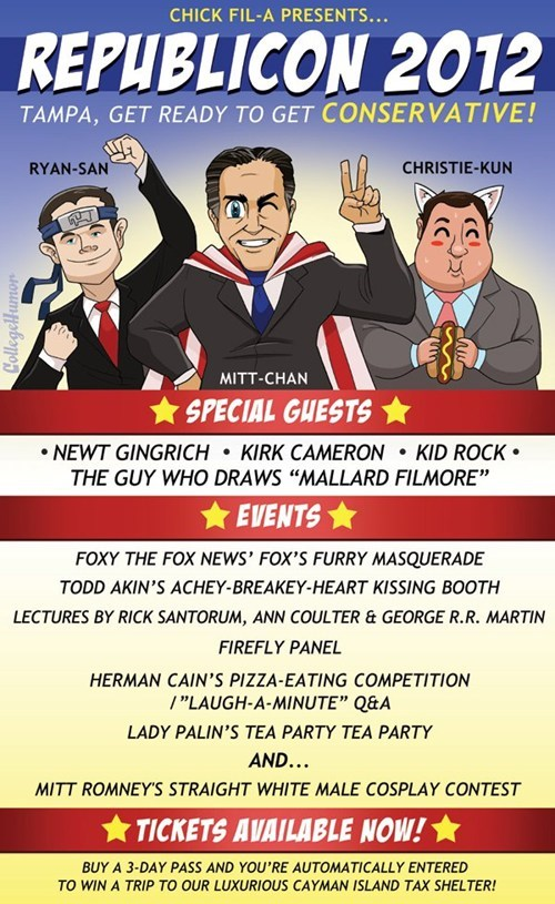 anime convention,Chris Christie,events,Mitt Romney,panel,paul ryan,rnc