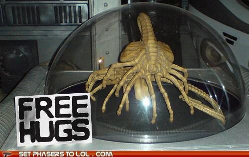alien Aliens face hugger Free Hugs xenomorphs - 6547777536