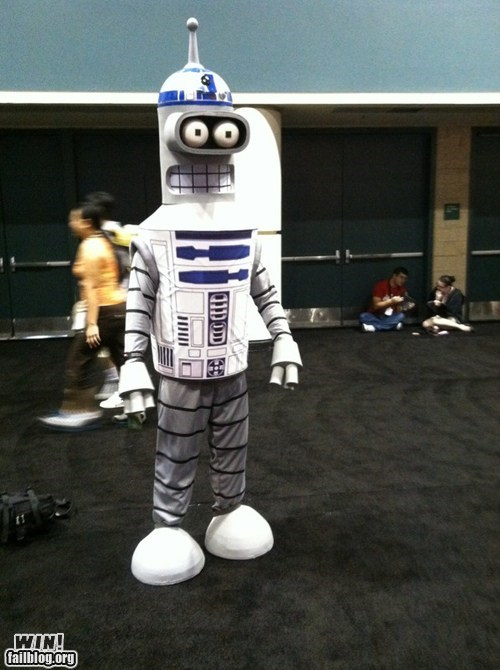 bender,cosplay,costume,futurama,nerdgasm,star wars