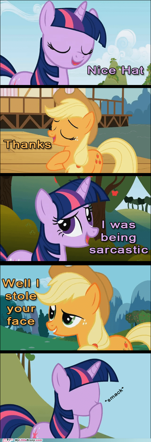 applejack comic dont-mess-with-aj stole your face twilight sparkle - 6548142080