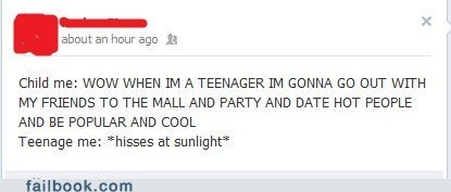 failbook growing up teenager