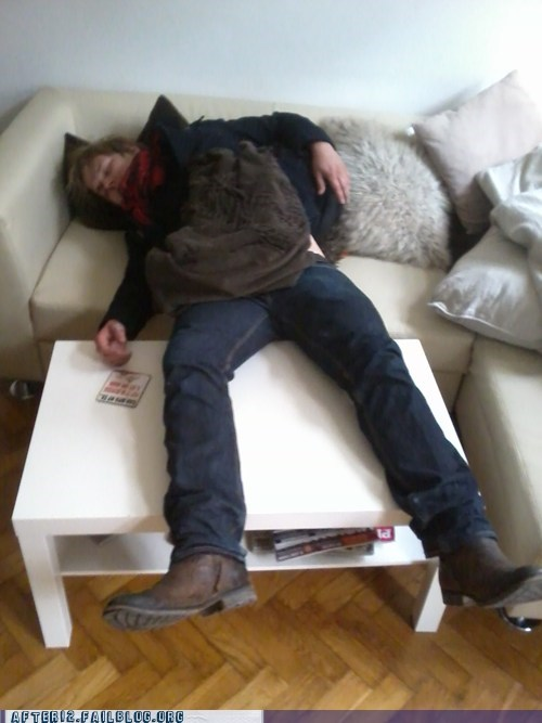 drunk,couch,passed out,funny