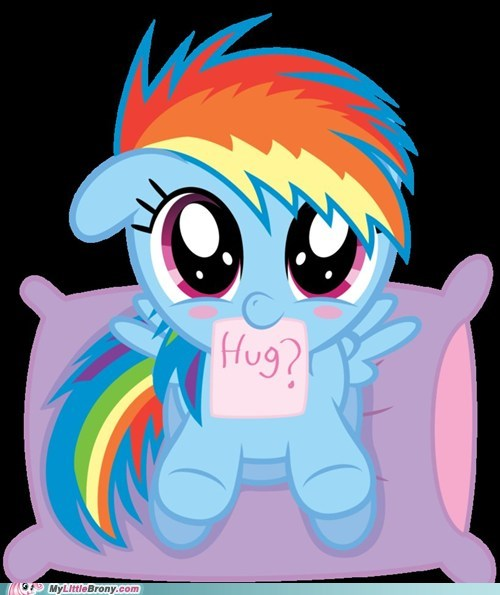 cute daww how can I resist hug mod died of cuteness rainbow dash - 6548982528