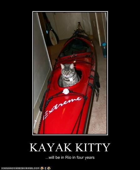 KAYAK KITTY ...will be in Rio in four years