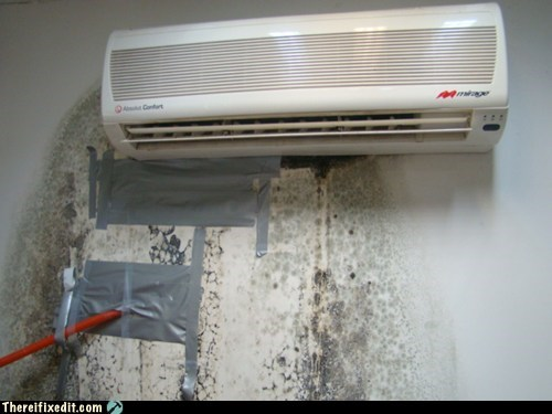 ac,air conditioning,duct tape,fungal infection,leak,mildew,mold
