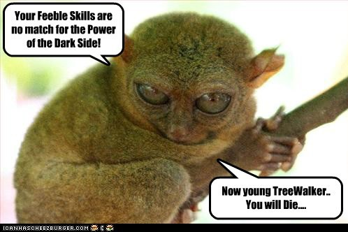 bushbaby Emperor Palpatine evil skywalker star wars the dark side tree