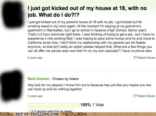 homeless parenting yahoo answers - 6549159424