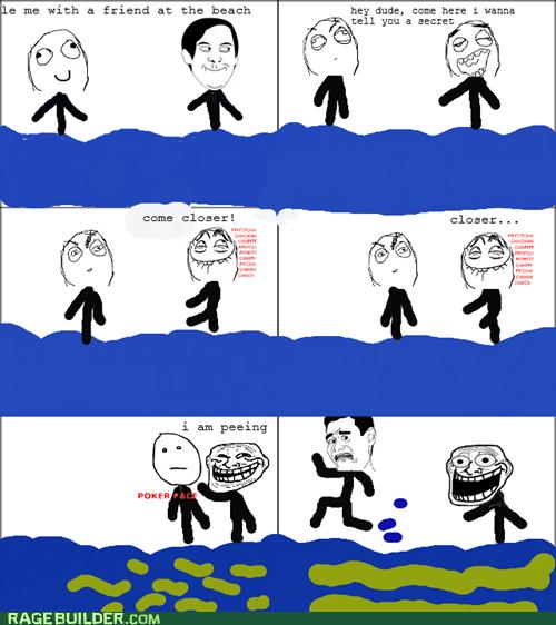 trollface,beach