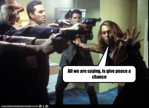 All we are saying, is give peace a chance