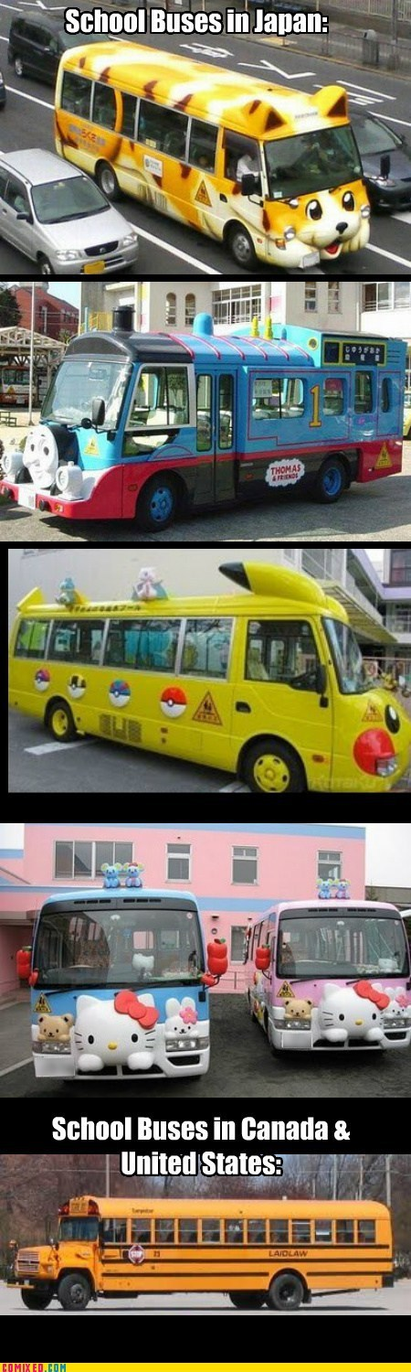 boring,Japan,magic school bus,north america