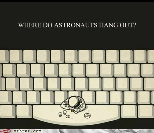 caps lock neil armstrong space bar