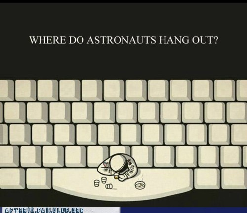 astronauts I see what you did there keyboard spacebar