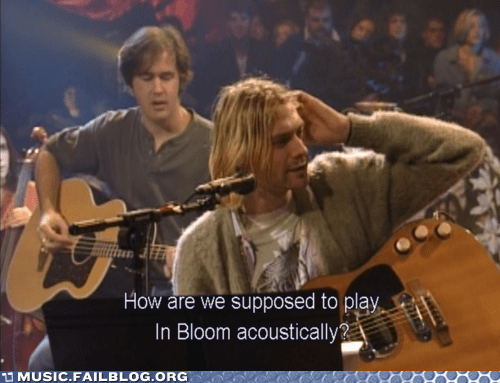 acoustic in bloom kurt cobain nirvana unplugged