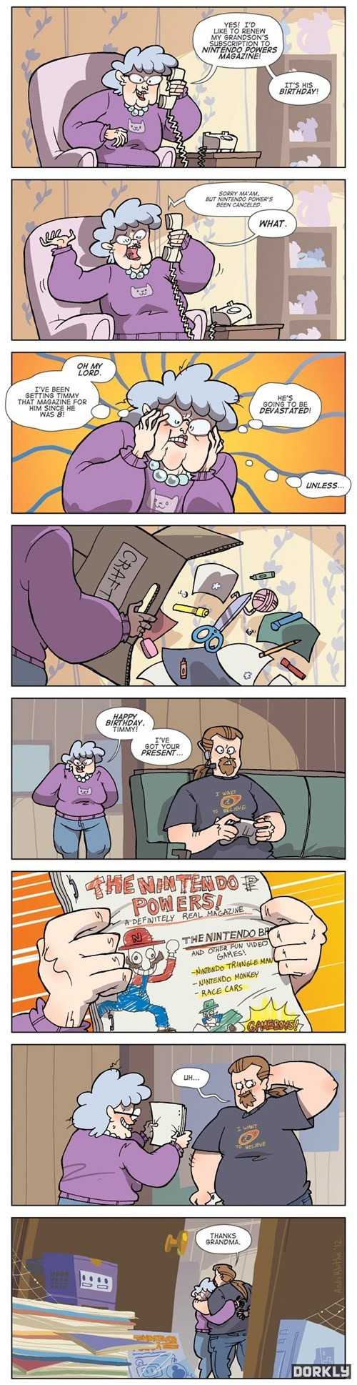 comic grandma nintendo power - 6549572608