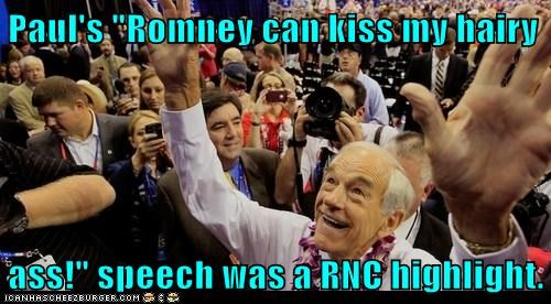 highlight kiss my ass Mitt Romney rnc Ron Paul speech - 6549577984