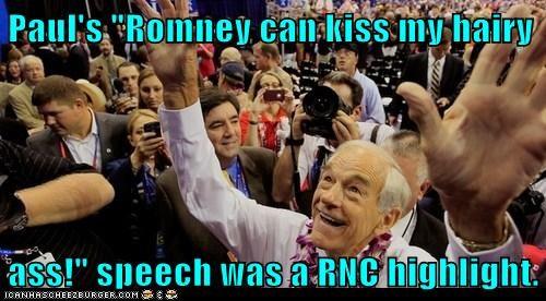 highlight kiss my ass Mitt Romney rnc Ron Paul speech - 6549577984