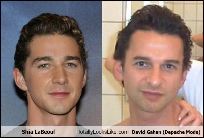 Music,shia labeouf,Depeche Mode,actor,david gahan,funny,TLL