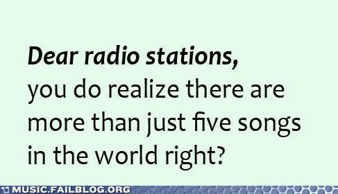 radio stations,same songs