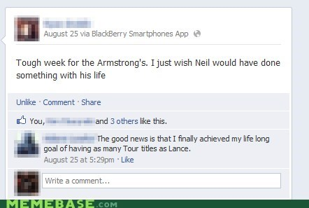 facebook Lance Armstrong niel armstrong - 6549659904