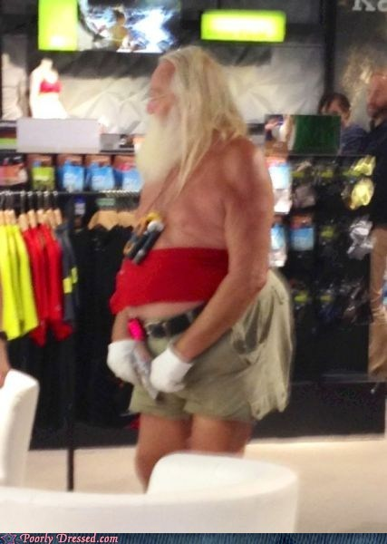 santa clause,tube top,wtf