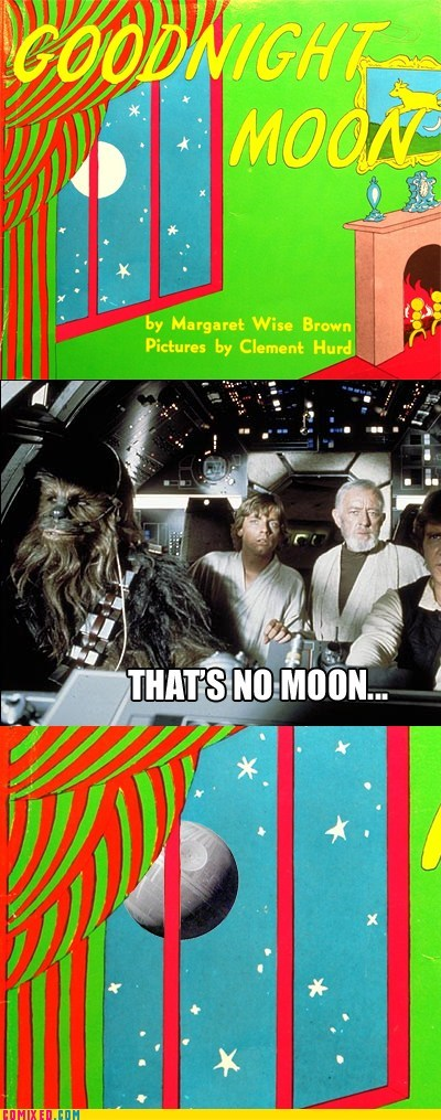 book goodnight moon Movie star wars thats-no-moon