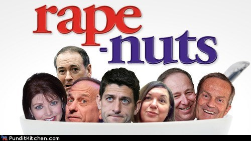 cereal,Fair and Balanced,grape nuts,legitimate,Mike Huckabee,paul ryan,rebecca kleefisch,Republicans,sexual assault,sharon barnes,steve king,todd akin,tom smith