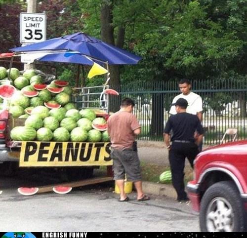 food nuts peanuts sign watermelon - 6549846784