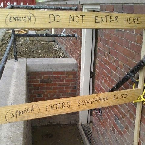 engrish,engrish funny,sign,spanish,translation,warning