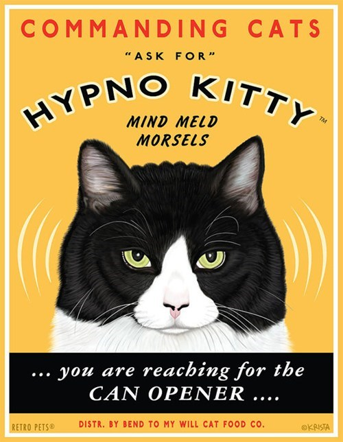 art Cats hypnotic hypnotizing mind meld signs - 6549847808