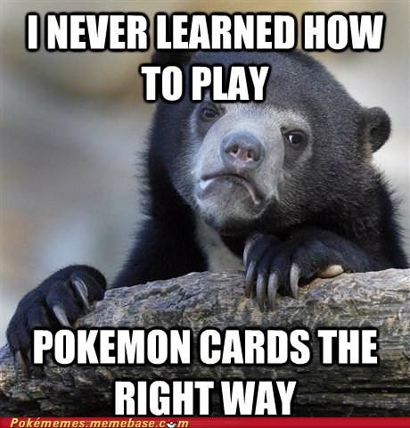 Confession Bear meme Pokémon TCG trading card game - 6549973248