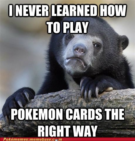 Confession Bear meme Pokémon TCG trading card game - 6549973248