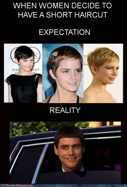 Dumb and Dumber girls with short hair jim carrey