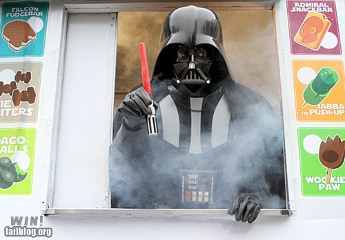 best of week,darth vader,dessert,food,Hall of Fame,nerdgasm,popscicle