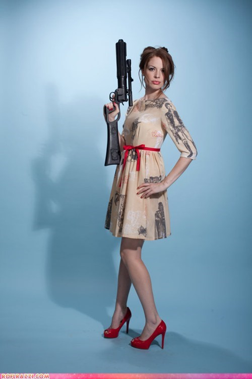 blaster,dress,fashion,gun,if style could kill,print,star wars