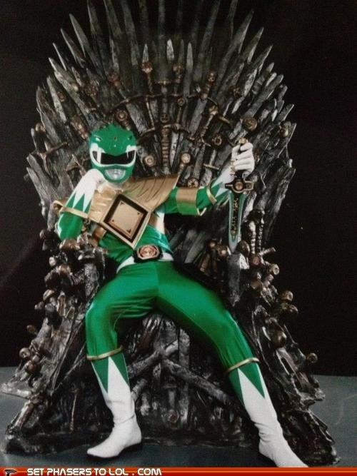 Game of Thrones,green ranger,power rangers,the iron throne,tommy,Winter Is Coming
