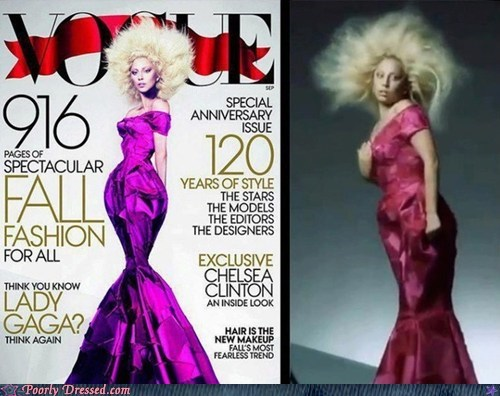 lady gaga,photoshop,vogue magazine