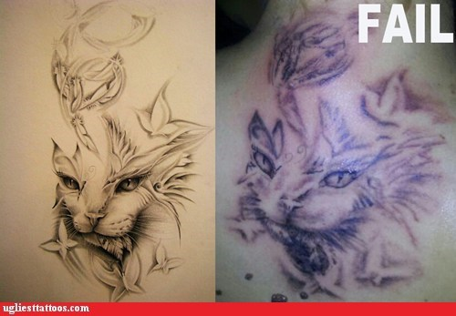 cat FAIL tattoo - 6550246912