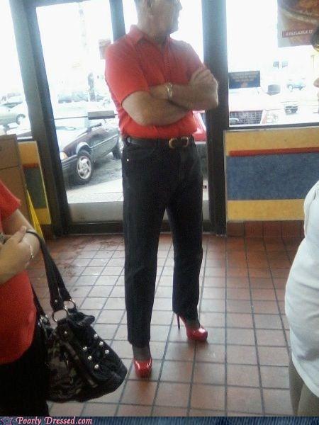cross dressing high heels man in heels - 6550281472