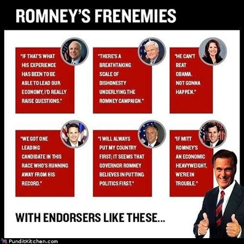 endorsement frenemies Mitt Romney past quotes - 6550315520